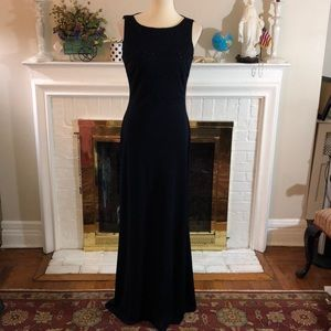 🌻Beautiful Navy beaded Gown by RIMINI Sz 10